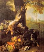 Francois Desportes Still Life with Dead Hare and Fruit