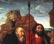 GOES, Hugo van der Sts. Anthony and Thomas with Tommaso Portinari oil painting picture wholesale