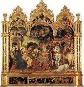 Gentile da Fabriano Adoration of the Magi and Other Scenes oil painting picture wholesale