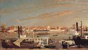 George Tirrell View of Sacramento,California,From Across the Sacramento River oil painting