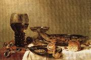 HEDA, Willem Claesz. Still Life oil painting artist