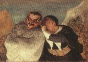 Honore Daumier Crispin and Scapin oil painting