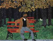 Horace pippin Man on a Bench oil painting