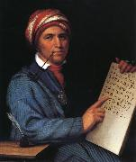 Huntington Daniel Sequoyah oil painting