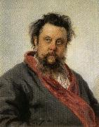 Ilya Repin Portrait of Modest Mussorgsky oil painting