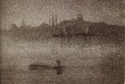 James Abbot McNeill Whistler Nocturne oil painting reproduction