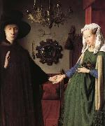Jan Van Eyck Details of Portrait of Giovanni Arnolfini and His Wife oil painting reproduction