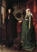 Jan Van Eyck Portrait of Giovanni Arnolfini and His Wife oil painting picture wholesale