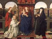 Virgin and child,with saints and donor