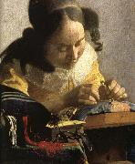 Jan Vermeer Details of The Lacemaker oil painting reproduction