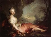 Jean Marc Nattier Marie Adelaide of France Represented as Diana