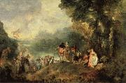 Jean-Antoine Watteau Embarkation from Cythera oil painting