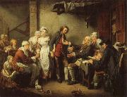 Jean-Baptiste Greuze The Village Marriage Contract oil painting picture wholesale