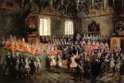 LANCRET, Nicolas Solemn Session of the Parliament for KingLouis XIV,February 22.1723 oil painting on canvas