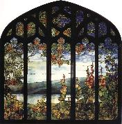 Louis Comfort Tiffany Leaded Glass Window oil painting