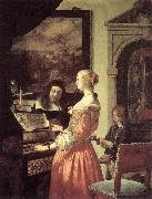 MIERIS, Frans van, the Elder Duet oil painting reproduction