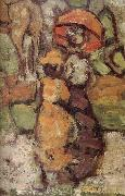 Maurice Prendergast Details of Central Park oil painting reproduction