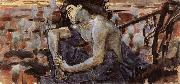 Mikhail Vrubel The Seated Demon oil painting