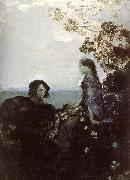 Mikhail Vrubel Hamlet and Ophelia oil painting