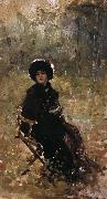 Nicolae Grigorescu In the Garden oil painting reproduction