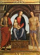 The Madonna between St. John the Baptist and St. Sebastian