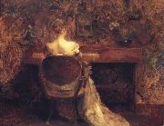Thomas Wilmer Dewing The Spinet oil painting artist