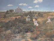 William Merrit Chase The Bayberry Bush oil painting artist