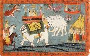 Celestial Procession with Indra Riding His Elephant