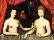 Gabrielle d'Estrees and Her Sister,the Duchesse de Villars