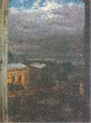 Adolph von Menzel The Anhalter Railway Station by Moonlight oil painting