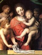 Bernadino Luini The Virgin Carrying the Sleeping Child with Three Angels (mk05) oil painting