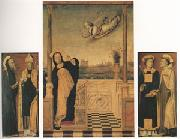 Carlo di Braccesco The Annunciation with Saints A triptych (mk05) oil painting