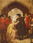 Edward Matthew Ward Sir Thomas More's Farewell to his Daughter oil painting artist