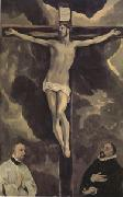 El Greco Christ on the Cross Adored by Two Donors (mk05) oil painting picture wholesale