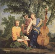 Eustache Le Sueur Melpomene Erato and Polymnia (mk05) oil painting picture wholesale