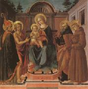 Francesco di Stefano called Pesellino The Virgin and Child Surrounded (mk05) oil painting