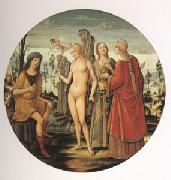 Girolamo di Benvenuto The Judgment of Paris (mk05) oil painting