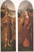 John the Baptist and st mary magdalen wings of a triptych (mk05)