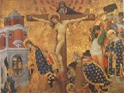 Henri Bellechose Christ on the Cross with the Martyrdom (mk05) oil painting picture wholesale
