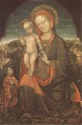 Jacopo Bellini THe Virgin and Child Adored by Lionello d'Este (mk05) oil painting artist
