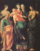 Jacopo Pontormo The Virgin and Child with Four Saints and the Good Thief with (mk05) oil painting picture wholesale