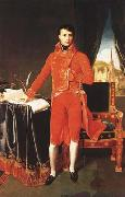 Jean Auguste Dominique Ingres Napoleon Bonaparte in the Uniform of the First Consul (mk04) oil painting reproduction