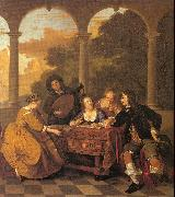 Loo, Jacob van Musical Party on a Terrace oil painting picture wholesale