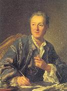 Loo, Louis-Michel van Portrait of Denis Diderot oil painting