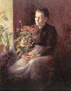 Lord, Caroline A. Woman with Geraniums oil painting picture wholesale