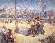Luce, Maximilien The Pile Drivers oil painting picture wholesale
