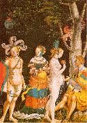 MANUEL, Niklaus The Judgement of Paris oil painting reproduction