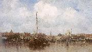Maris, Jacob Dutch Town on the Edge of the Sea oil painting