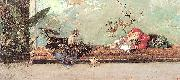 Marsal, Mariano Fortuny y The Artist's Children in the Japanese Salon oil painting picture wholesale