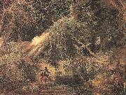 Moran, Thomas Slaves Escaping Through the Swamp oil painting